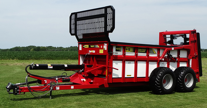 New H&S HYDRA-PUSH Manure Spreaders Now Available